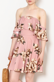 Blooms in The City Jena Floral Print Off The Shoulder Dress - Product Mini Image
