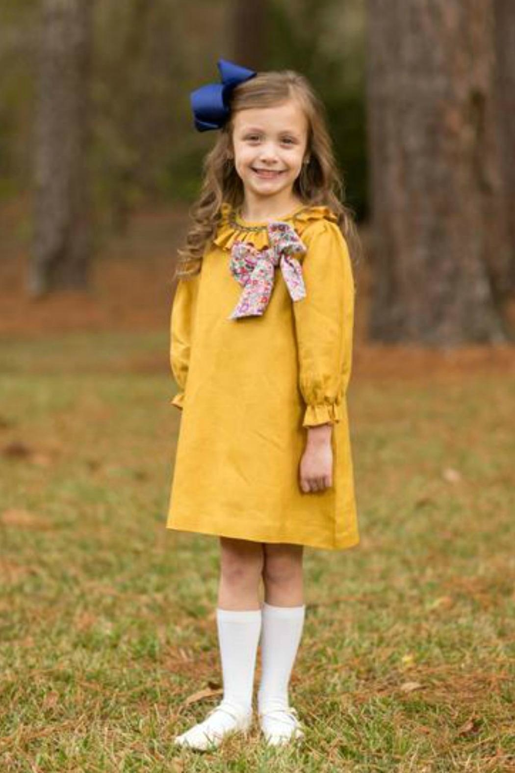 The Oaks Apparel Jencey Mustard-Colored Dress - Main Image