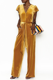 Jenn by Lucy Paris Florence Velvet Jumpsuit - Product Mini Image