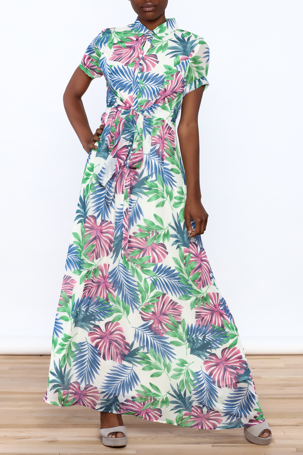 Jenn Colorful Tropics Maxi Dress - Main Image