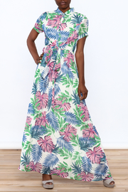 Jenn Colorful Tropics Maxi Dress - Front full body