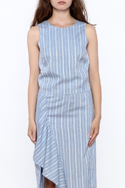 Jenn Blue Stripe Print Top - Side cropped