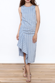Jenn Blue Stripe Print Top - Front full body