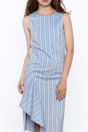 Jenn Blue Stripe Print Top - Product Mini Image