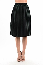 Jenn Velvet Pleat Skirt - Product Mini Image
