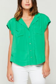 Velvet Heart Jenna Button Down Blouse - Product Mini Image