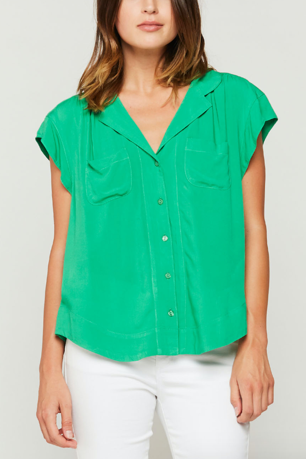 Velvet Heart Jenna Button Down Blouse from Texas by y&i