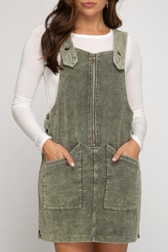 She+Sky Jenna Corduroy Jumper Dress - Product List Image