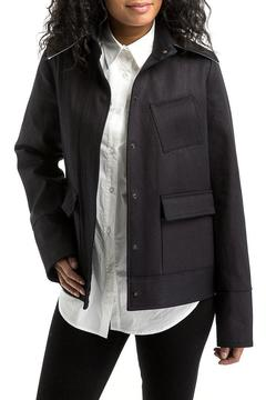 Shoptiques Product: Coated-Denim Ruffle Jacket