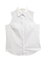 Jennifer & Grace White Pleated-Back Blouse - Product Mini Image
