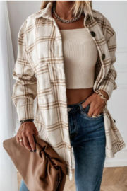 THE FREE YOGA Jenny Flannel Shirt - Side cropped