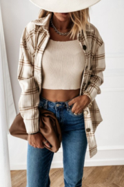 THE FREE YOGA Jenny Flannel Shirt - Front cropped