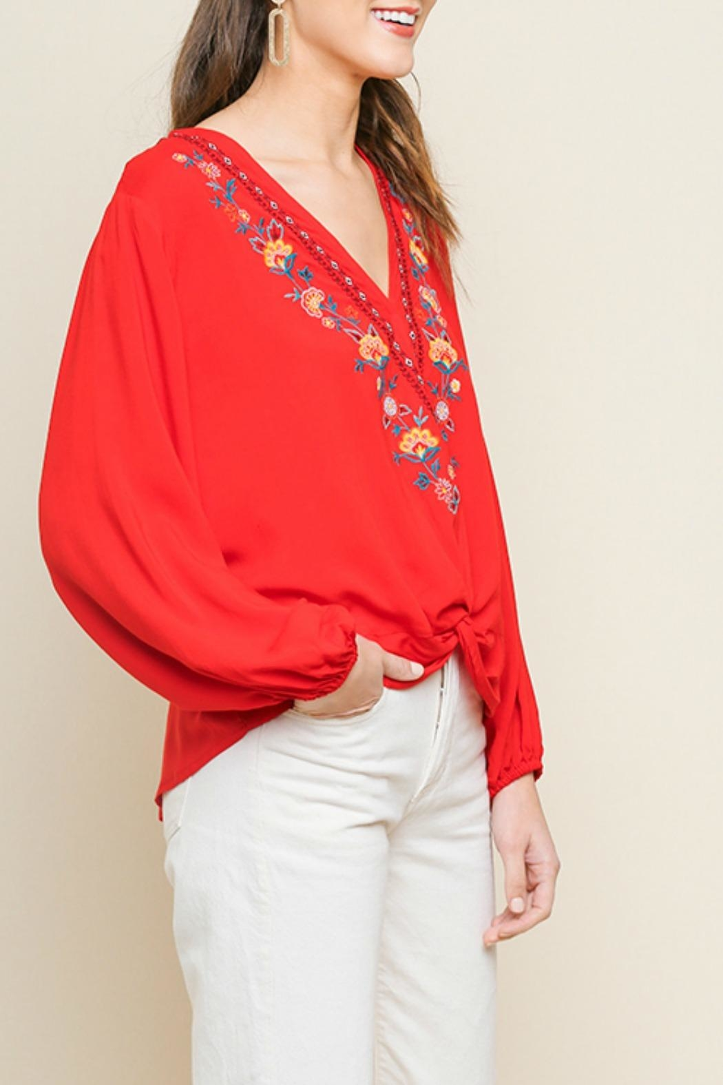 Umgee USA Jenny Floral Top - Side Cropped Image