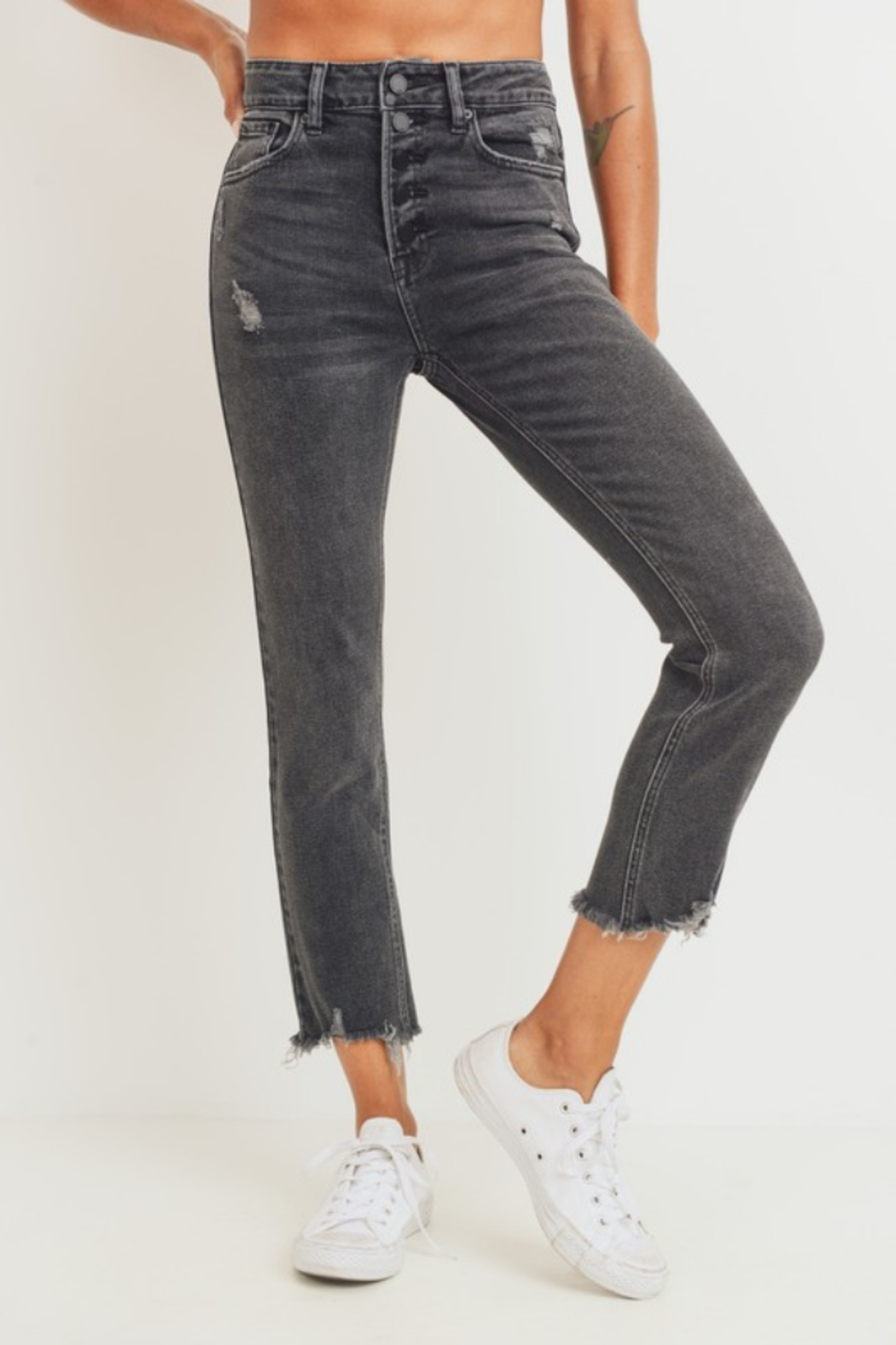 JBD Jenny High Rise Straight Jean - Front Full Image