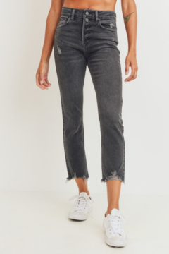 just black Jenny High Rise Straight Jean - Product List Image