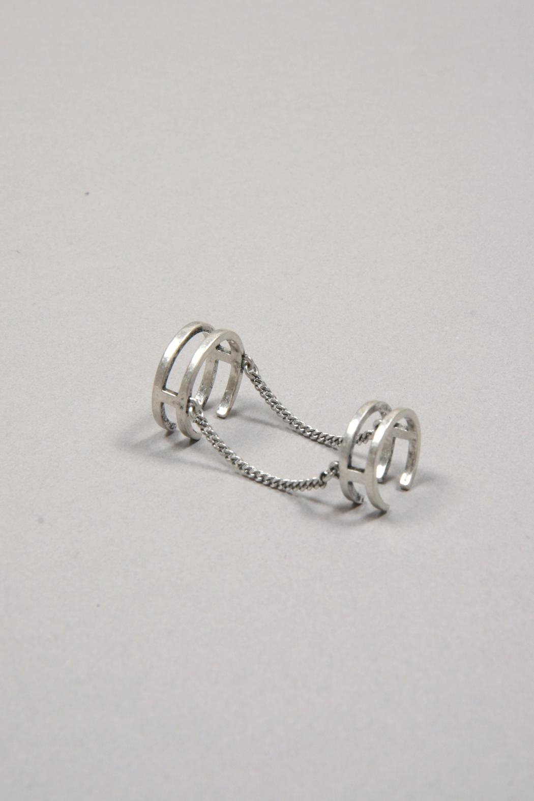 Jenny Bird Double Chain Ring - Front Cropped Image
