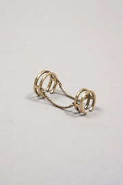 Jenny Bird Double Chain Ring - Front cropped
