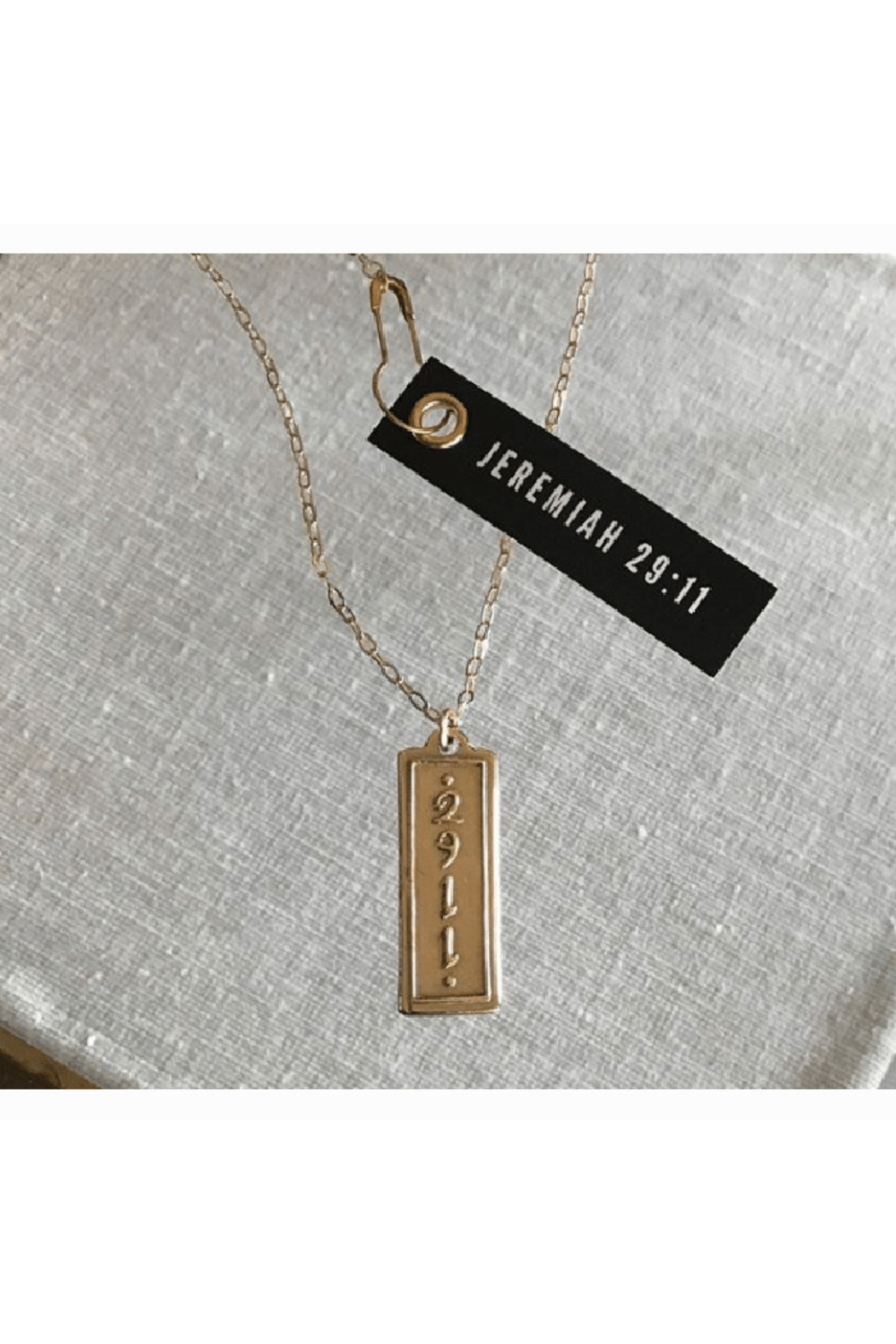 MADISON STERLING JEWELRY JEREMIAH 29:11 PENDANT NECKLACE - Front Cropped Image