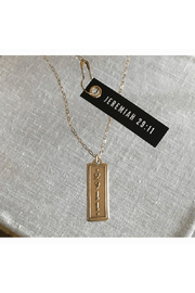 MADISON STERLING JEWELRY JEREMIAH 29:11 PENDANT NECKLACE - Front cropped