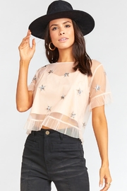 Show Me Your Mumu Jeri Star Sequin Top - Back cropped