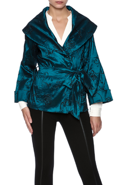 Shoptiques Product: Teal Embroidered Jacket