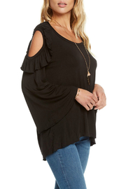 Chaser Jersey Cold Shoulder Ruffle Bell Tee - Product Mini Image