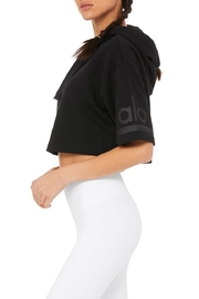 ALO Yoga Jersey Cropped Hoodie - Front full body