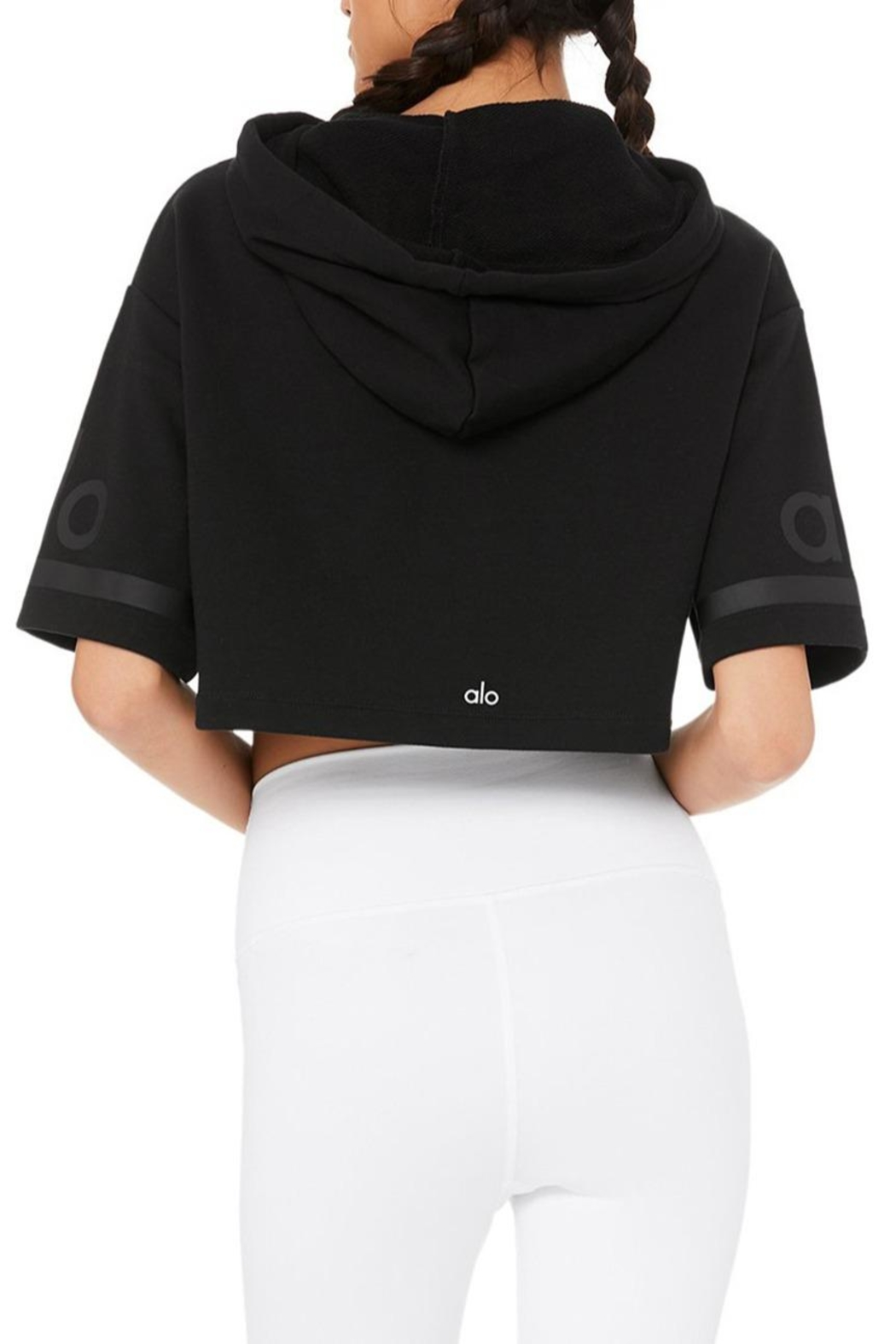 ALO Yoga Jersey Cropped Hoodie - Side Cropped Image