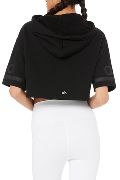ALO Yoga Jersey Cropped Hoodie - Alternate List Image