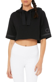 ALO Yoga Jersey Cropped Hoodie - Product Mini Image