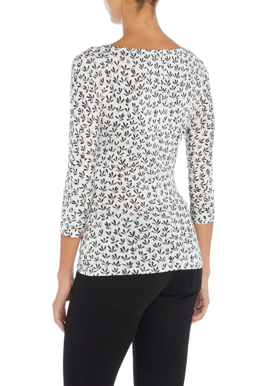 Max Mara Jersey Floral Top - Front Full Image