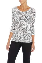 Max Mara Jersey Floral Top - Front cropped