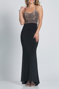 Dave and Johnny Jersey Gown W/Embellished Bodice - Product List Image
