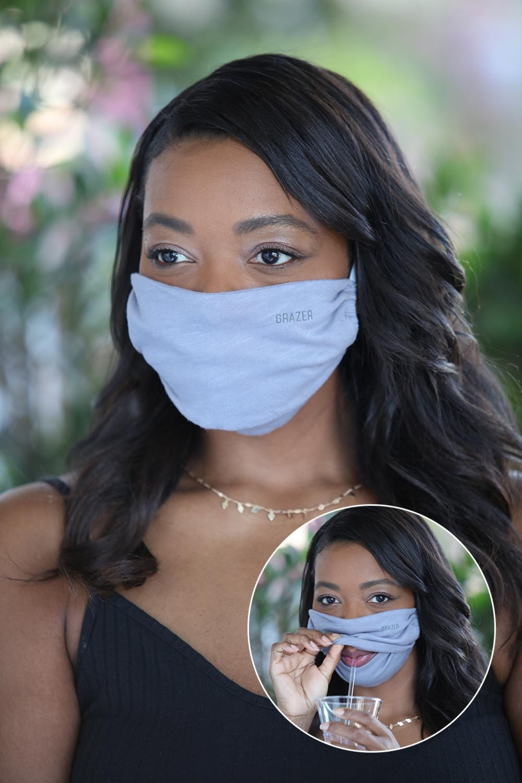 PJ Harlow JERSEY GRAZER FACEMASK - Front Cropped Image