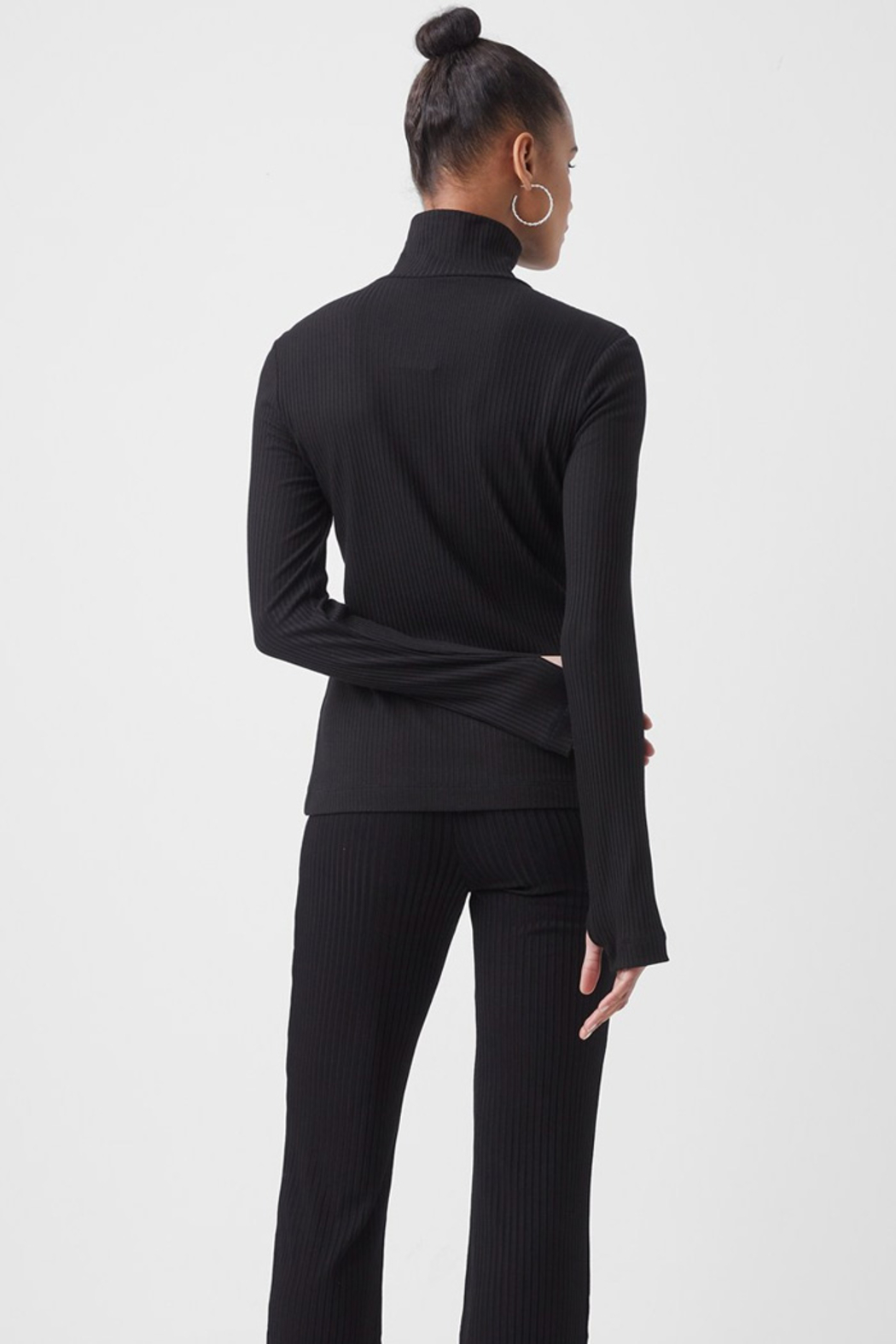 French Connection Jersey High Neck Top - Side Cropped Image