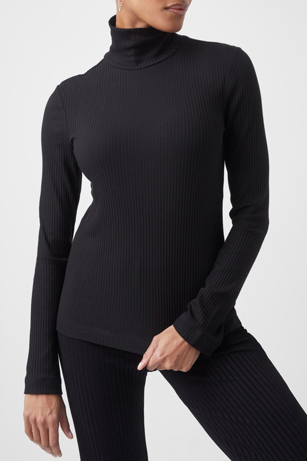 French Connection Jersey High Neck Top - Main Image