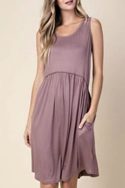 KORI AMERICA Mauve Jersey Dress - Front cropped