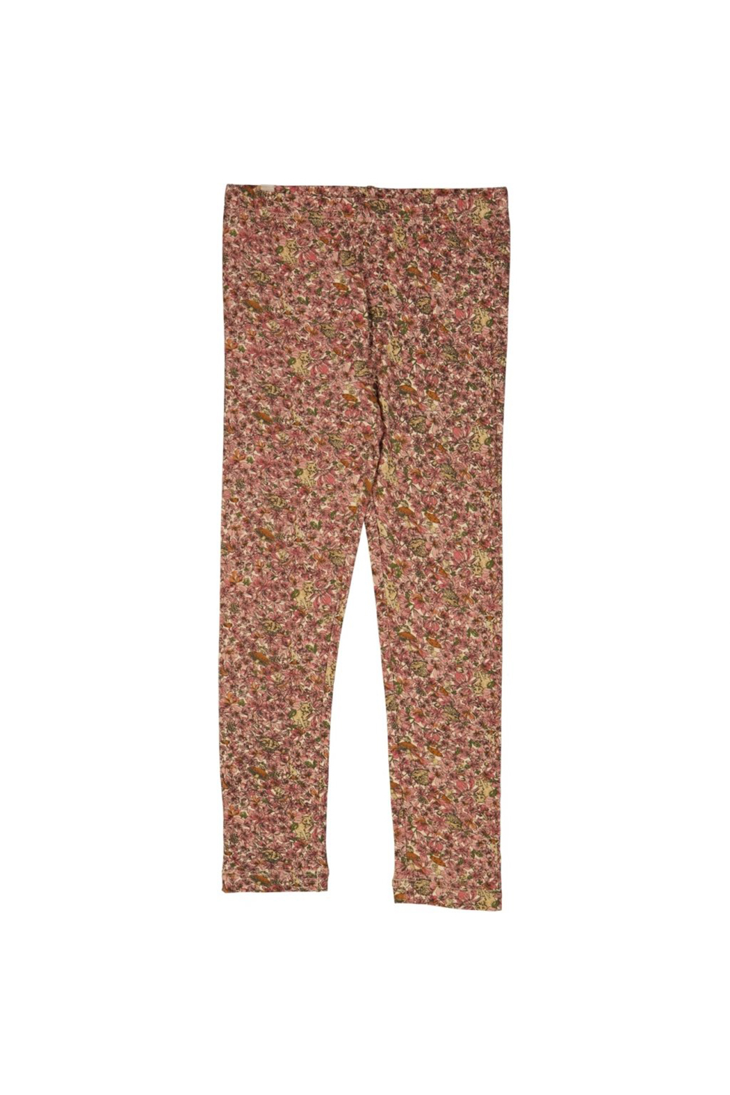 Wheat Jersey Leggings - Flowers And Animals - Main Image