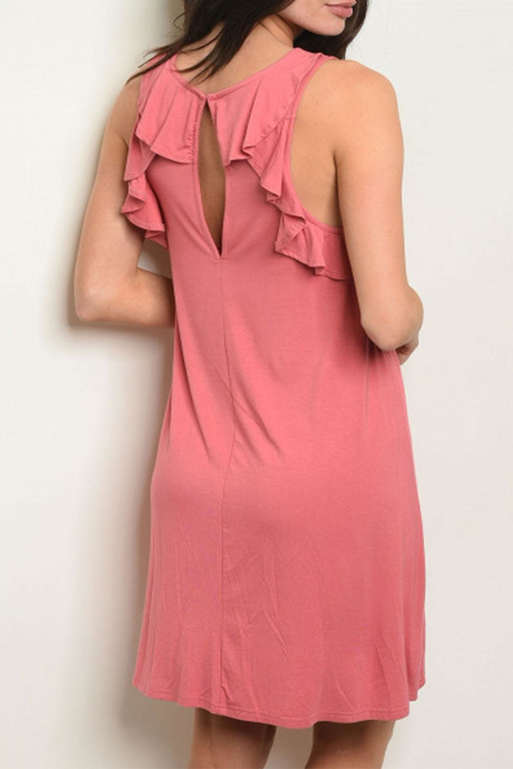 LoveRiche Jersey Ruffle Back - Front Full Image