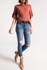 Zsupply Jersey Ruffle Tee - Front cropped