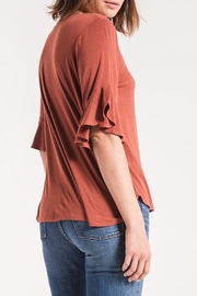 Zsupply Jersey Ruffle Tee - Side cropped