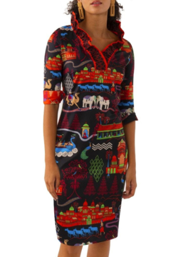 Gretchen Scott  Jersey Ruffneck Dress - Product List Image