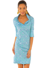 Gretchen Scott Jersey Ruffneck Dress Piazza - Product Mini Image