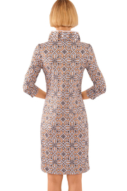 Gretchen Scott Jersey Ruffneck Dress Piazza - Front full body