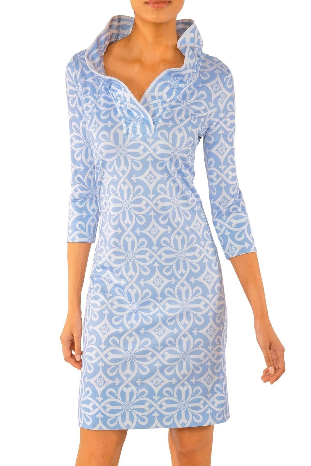 Gretchen Scott Jersey Ruffneck Dress-Piazza - Main Image