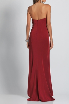 Dave and Johnny Jersey S/Less Gown W/ Beaded Beaded Slit - Alternate List Image