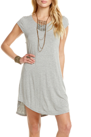 Chaser Jersey Shirttail Lace-up Back Cap Slv Dress - Product Mini Image