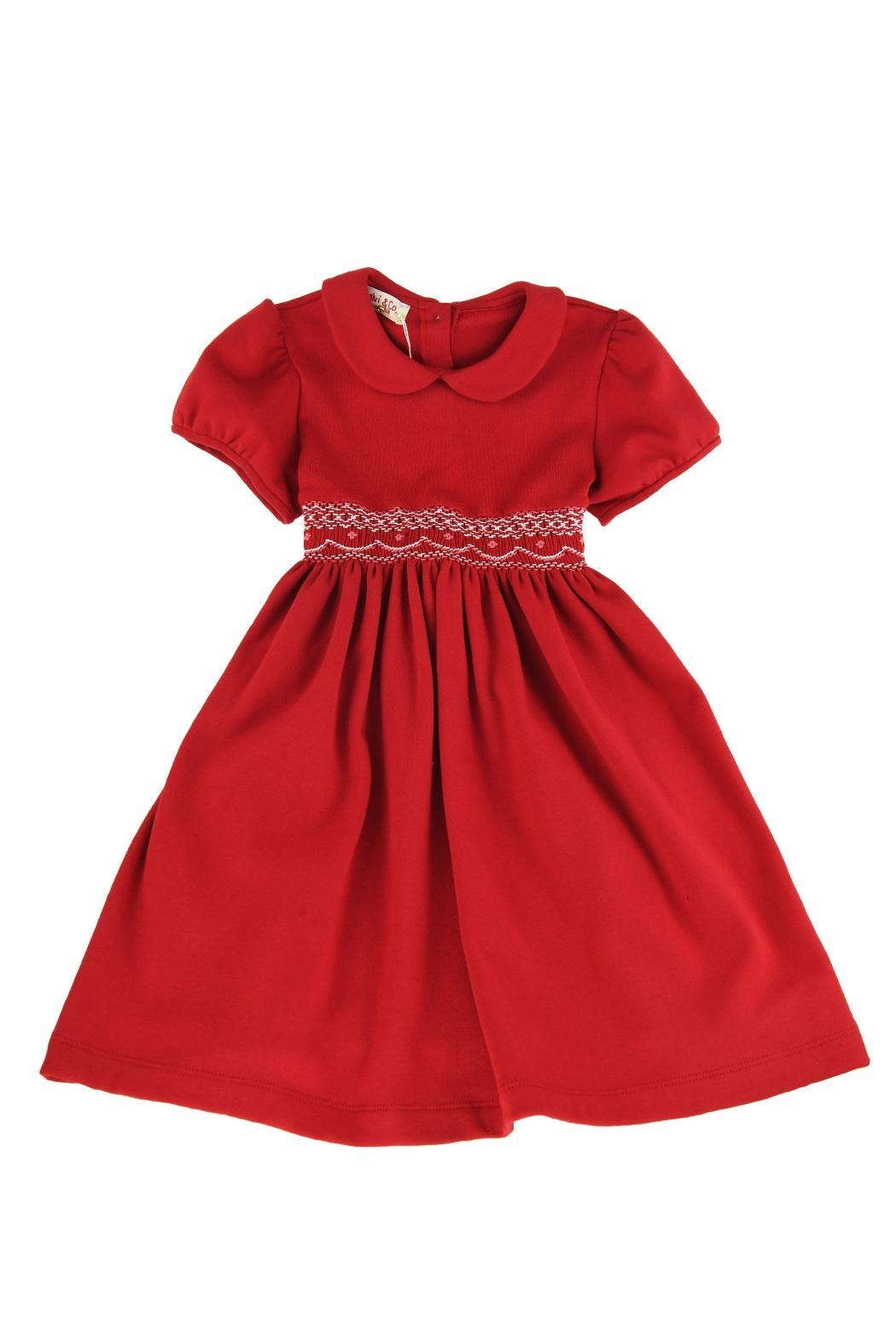 Malvi & Co. Jersey Smocked Dress. - Front Cropped Image