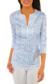 Gretchen Scott Jersey Split Neck Tunic - Piazza - Front cropped