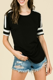 7th Ray Jersey Stripe Top - Product Mini Image